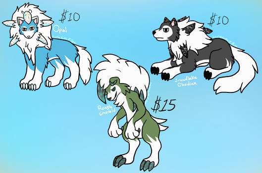 Gemstone Lycanroc Adopts