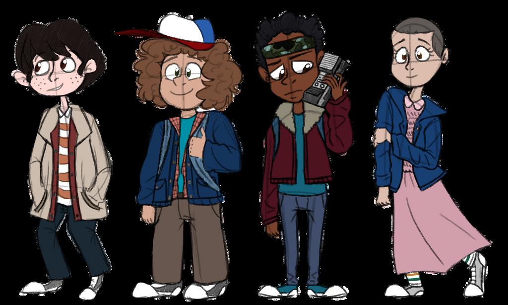 La compagnia di ragazzi di Stranger Things, con Undici: la ragazza con disturbo di mutismo selettivo