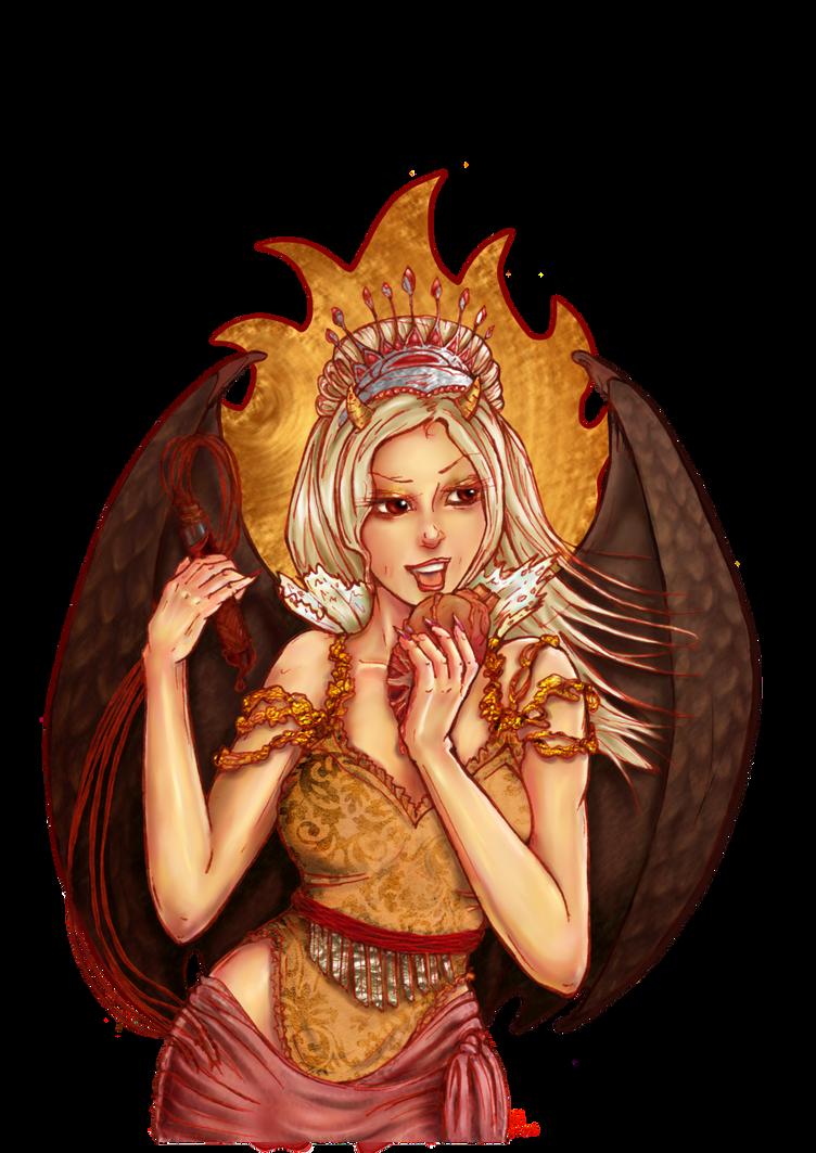 Golden Succubus by Verbeley