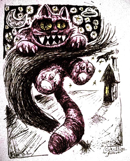 fan art: cheshire cat by misterpila
