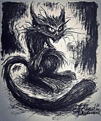 cat by misterpila