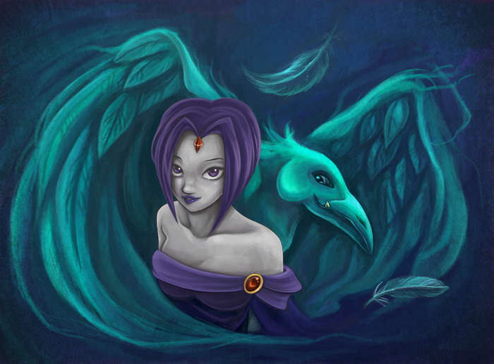 Raven and Beast boy by Izabella