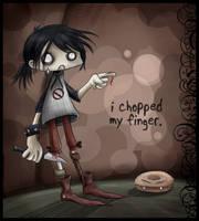 i chopped my finger... by Izabella