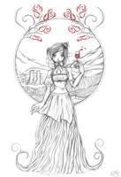 Rose Wine by Izabella