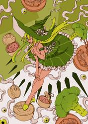 Broccoli Witch by 0Gina0