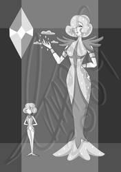 White Diamond Adoptable number 9 Open