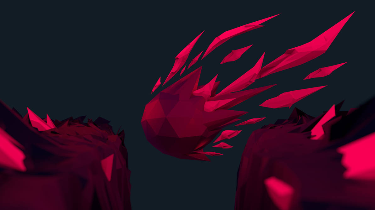 Low Poly Wallpaper (Red/Magenta) by Bluhurr ...