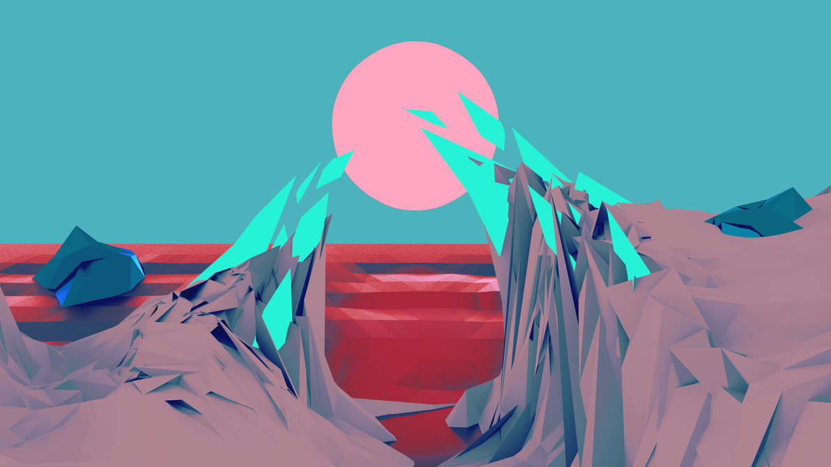 Low Poly Wallpaper (Red/Blue) by Bluhurr ...