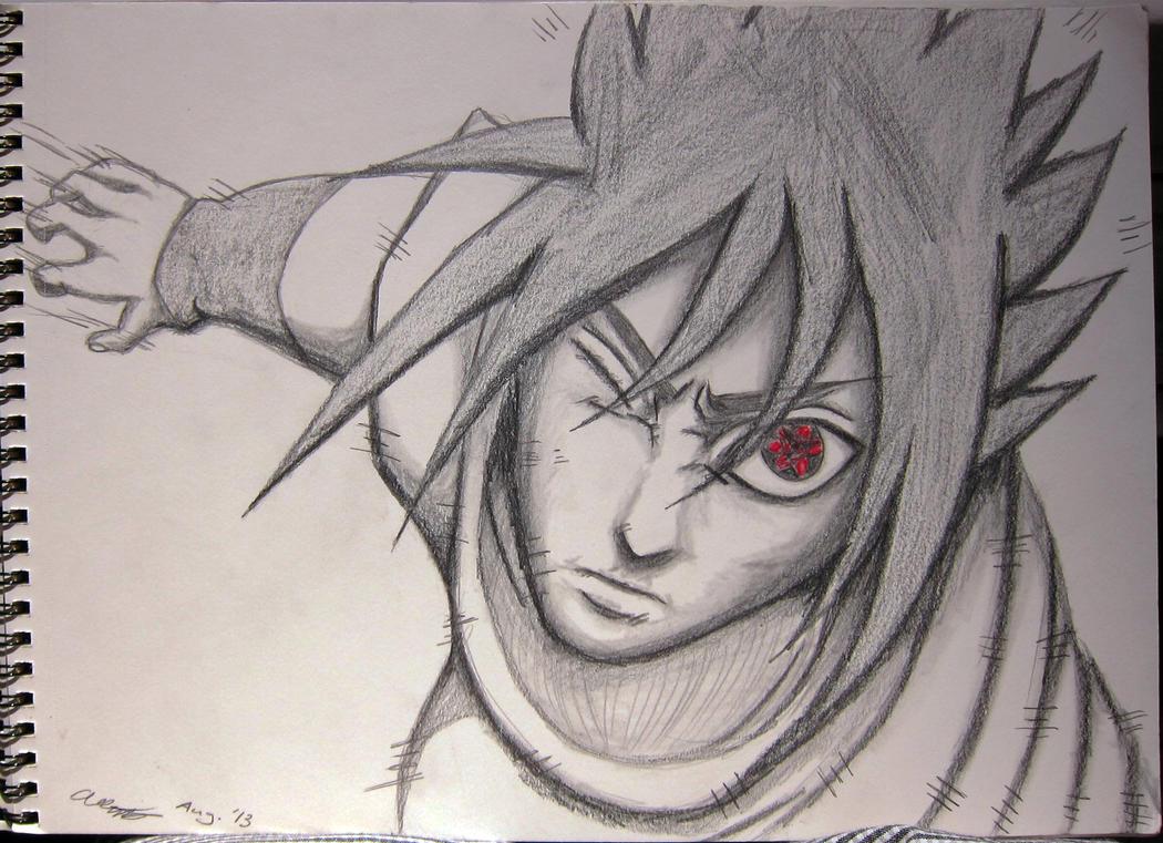 Sasuke Lineart : Sasuke amaterasu by iceshark on deviantart