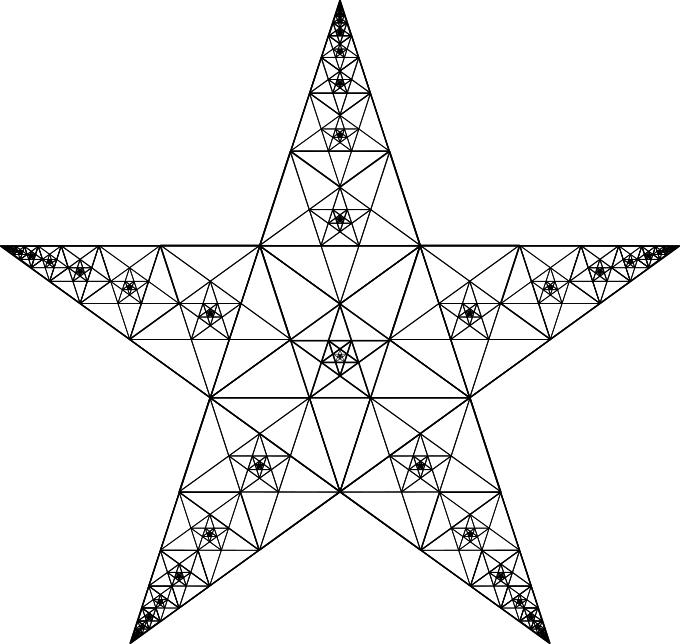 Outbounded Trisinfinite Pentagram by Mathemagic