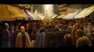 Environment study 04 - Town market
