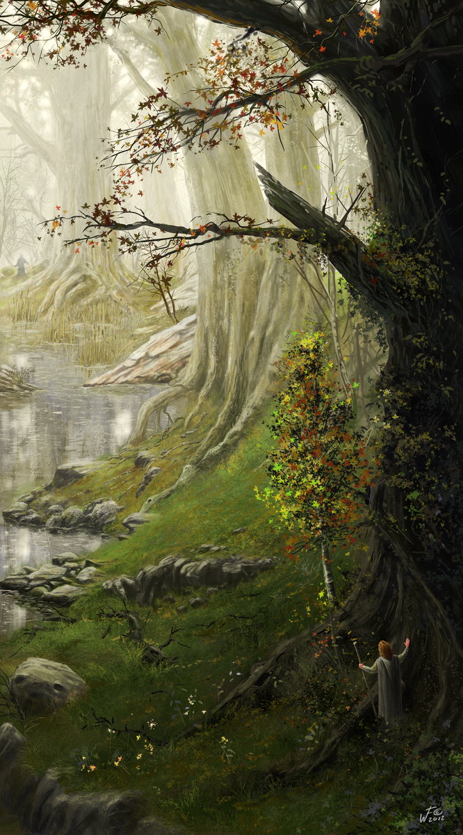Environment study 06 - A hidden grove by woutart