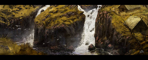 Speedpainting 24: By the Falls by woutart