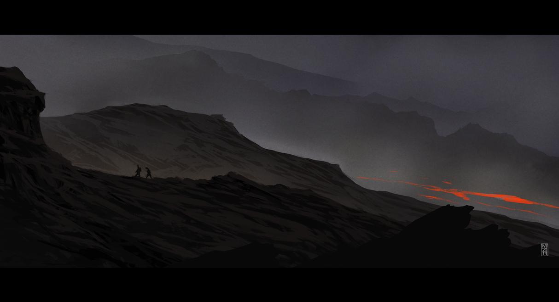 Approaching Orodruin by woutart