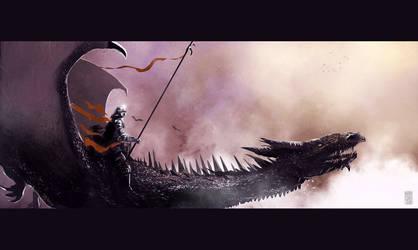 sketch: Dragon rider