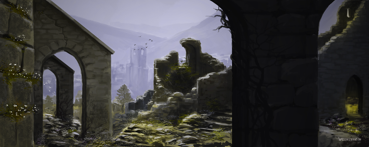 Sketch: Ruins by woutart