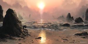 Broken shores by woutart