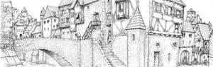 Sketchbook: Town - ink