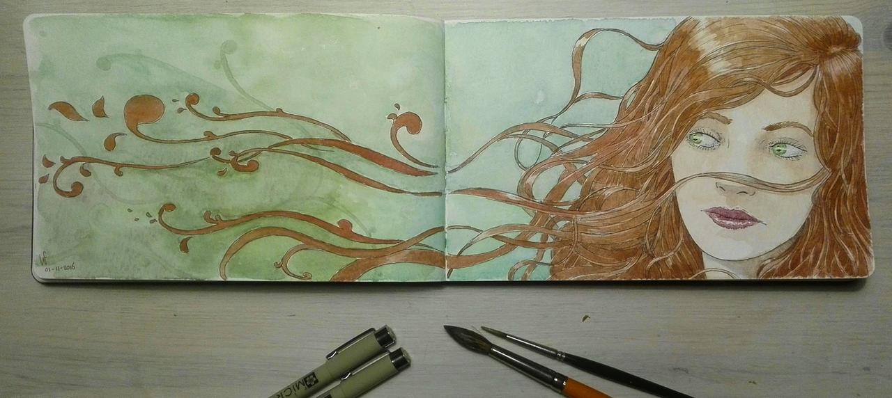 Sketchbook: Redhead by woutart