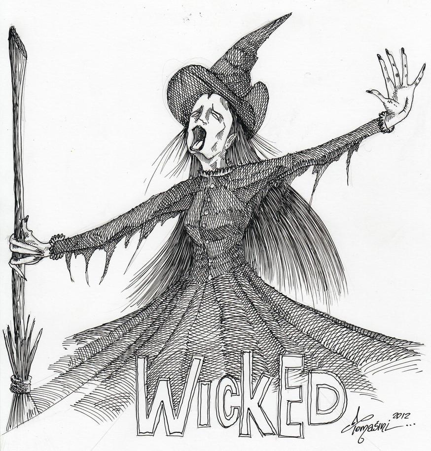 Wicked plumilla by DiegoTomasiniDIBRUJO