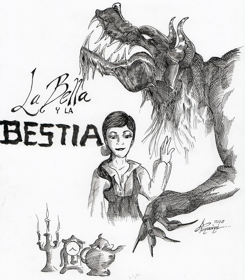Bella y Bestia Plumilla by DiegoTomasiniDIBRUJO