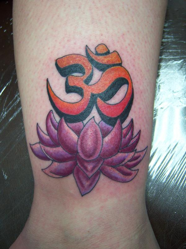 Lotus And Symbol Tattoo By Body Mods On Deviantart
