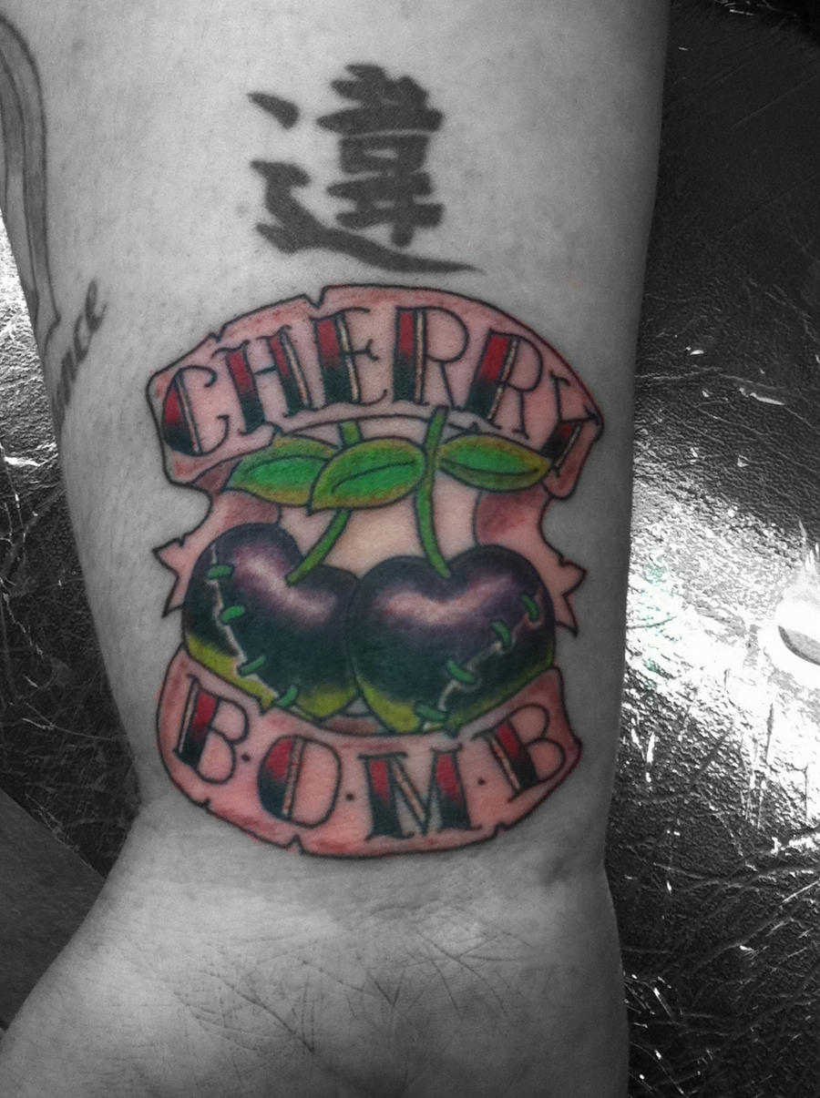 Cherry bomb tattoo by body mods on deviantart for Cherry bomb tattoo parlor perth