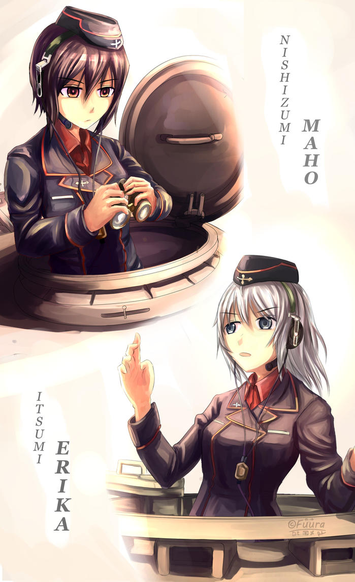 Kuromorimine Commander and Vice Commander by AFD42