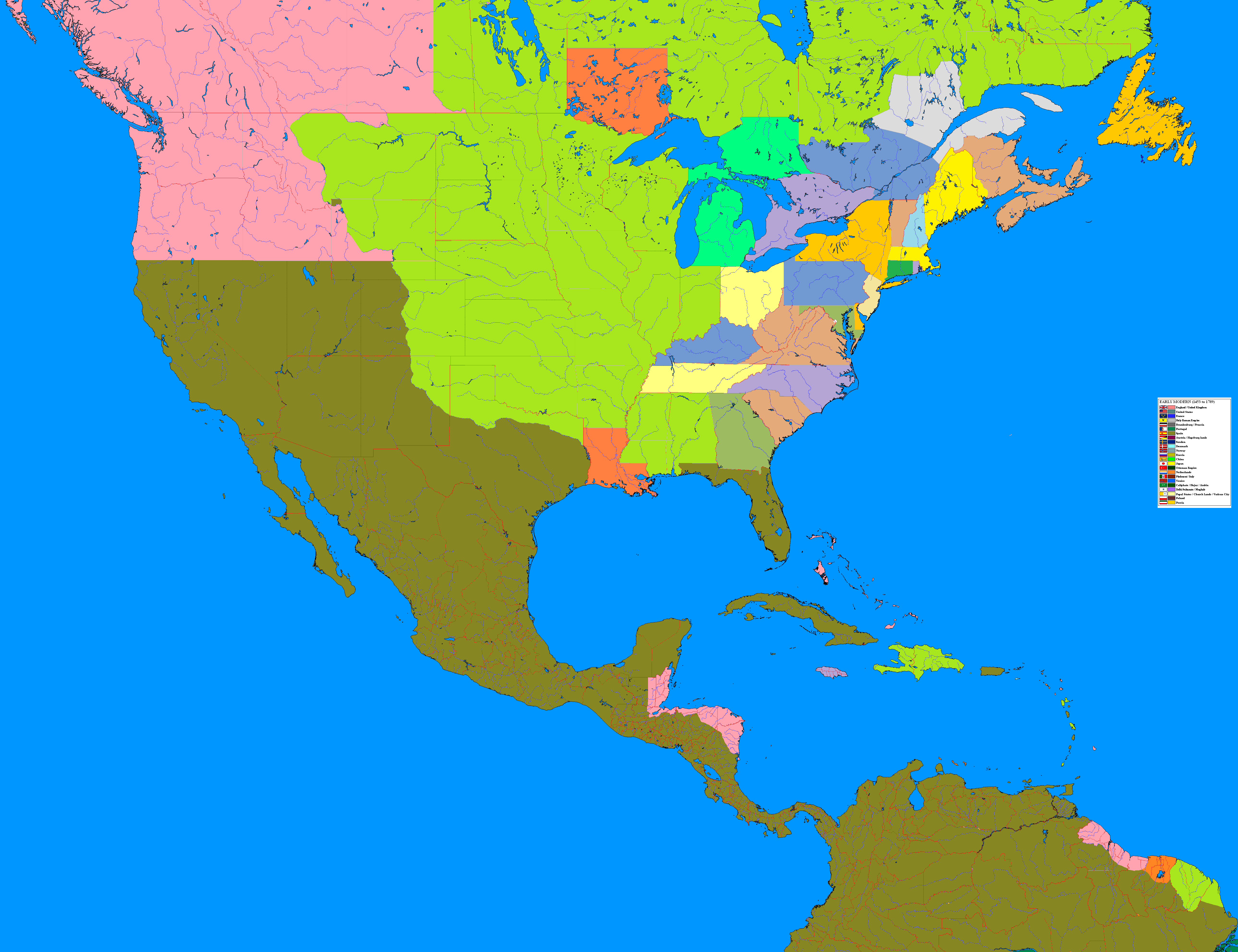 North America By JJohnson On DeviantArt - Map of us in 1812
