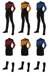 Class A Starfleet Uniform, (female)