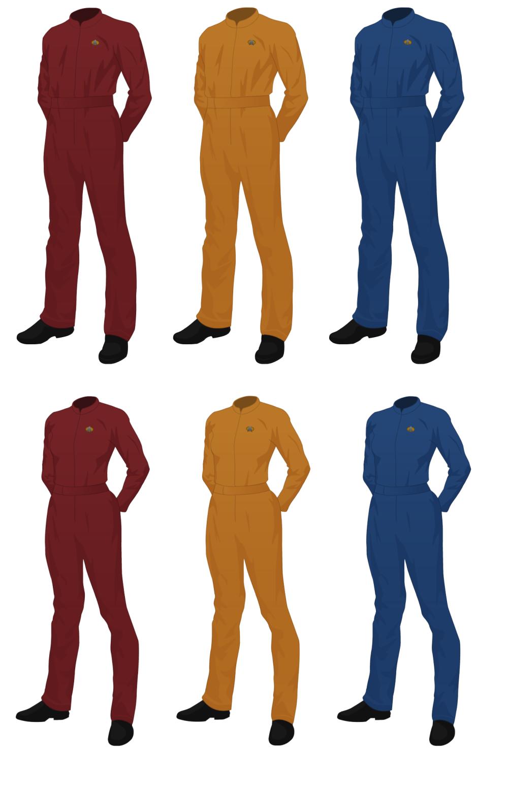 Star Trek concept uniform, Jumpsuit