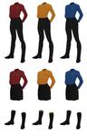 Class A Starfleet Uniform, female undershirt