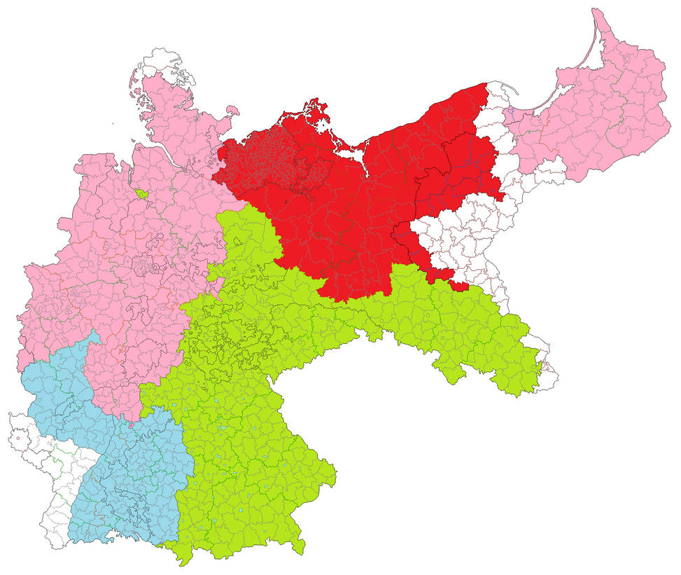 Map Of Germany Occupation Zones.Germany Occupation Zones By Jjohnson1701 On Deviantart
