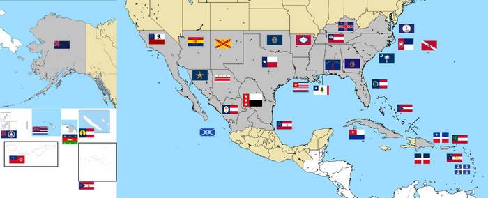 Deo Vindice Flag Map