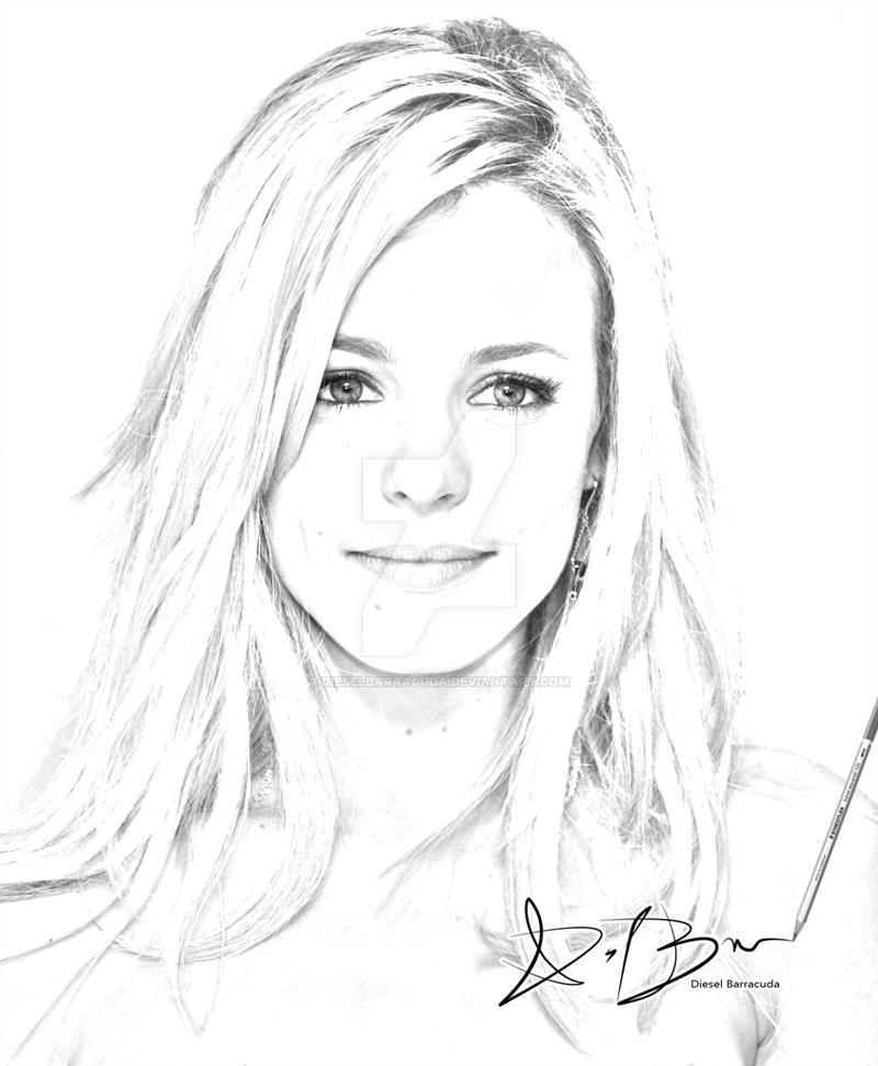 Rachel McAdams Sketch by DieselBarracuda