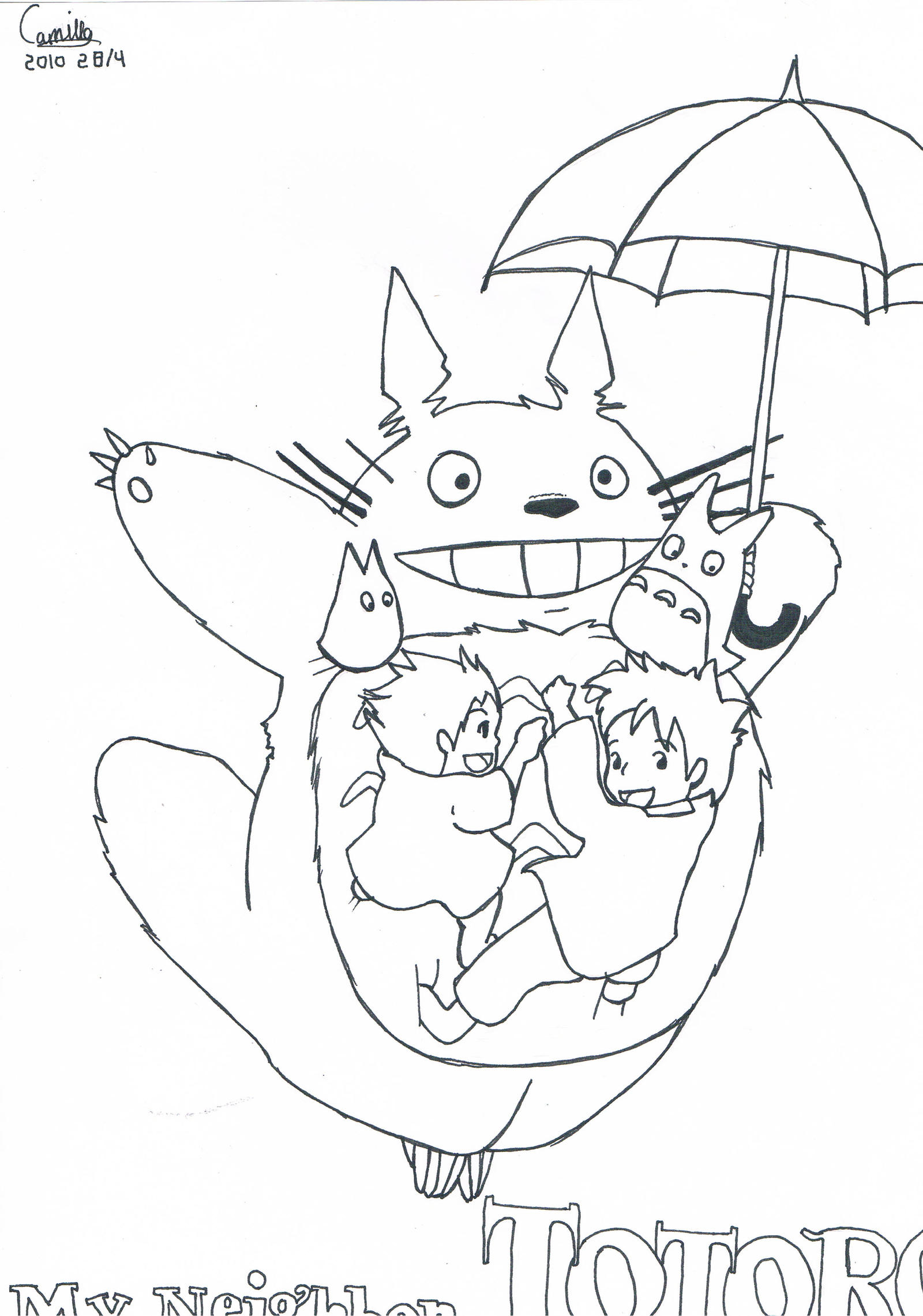 My Neighbor Totoro By Lrakuenl On Deviantart Totoro Coloring Pages