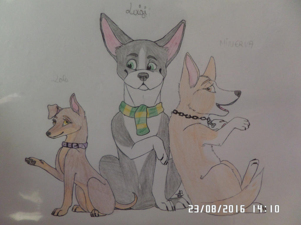 Lola, Luigi and Minerva by AuroreMaudite09