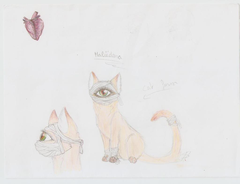 Maliedora (cat form) by AuroreMaudite09