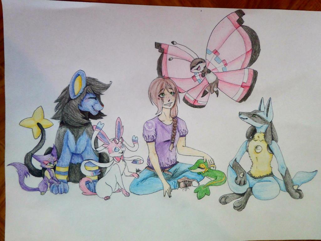 Pokemon Team 2 by AuroreMaudite09
