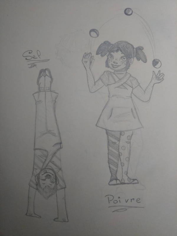 Poivre and Sel the Clowns by AuroreMaudite09
