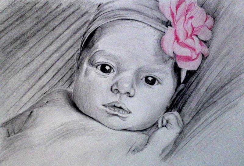 Pink Flower Baby by wynnieadams