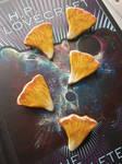 Chanterelle Mushroom Clay Pins by GloomandCookiess