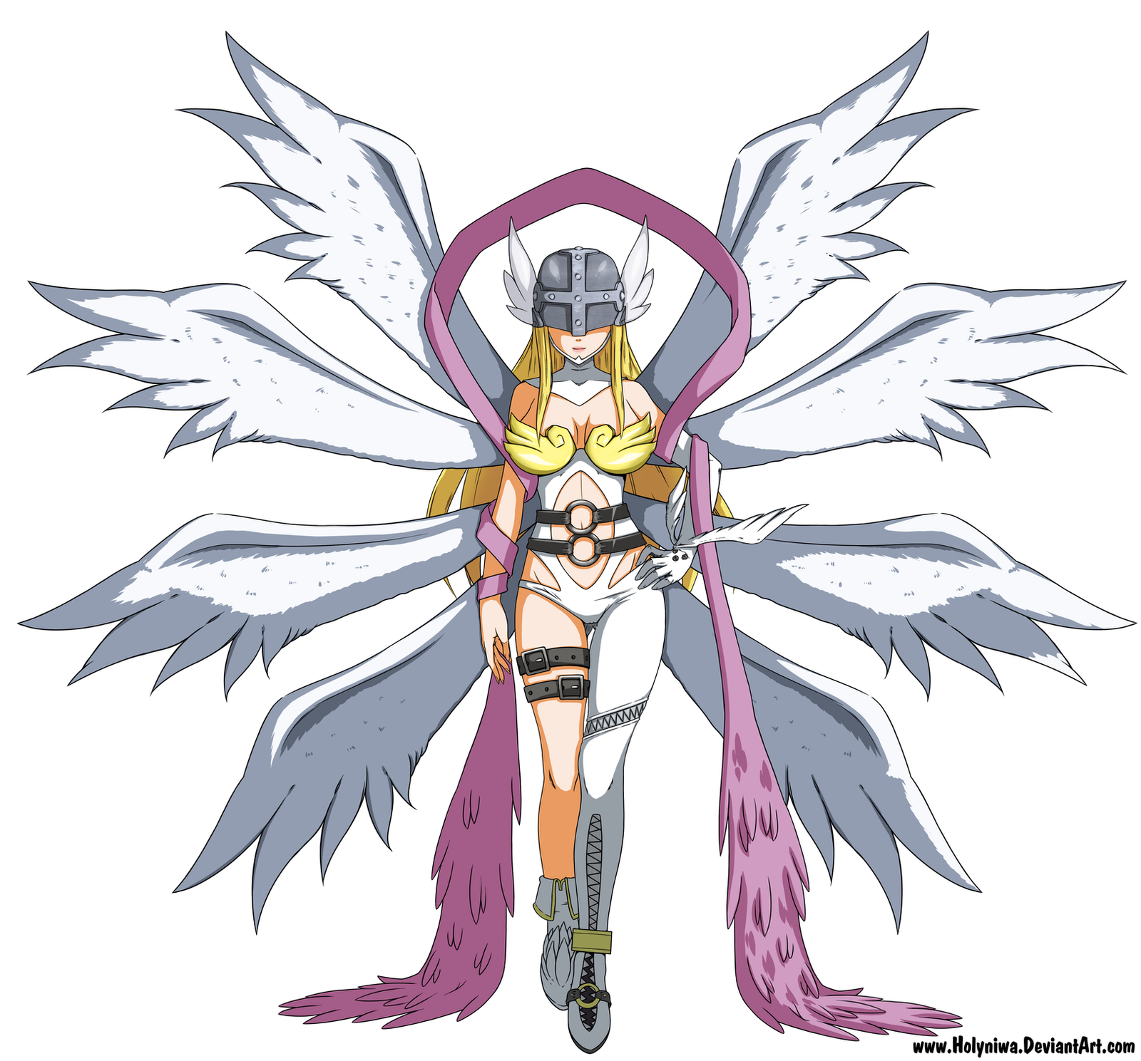 Angewomon Reference by HolyNiwa on DeviantArt: http://holyniwa.deviantart.com/art/angewomon-reference-516837199