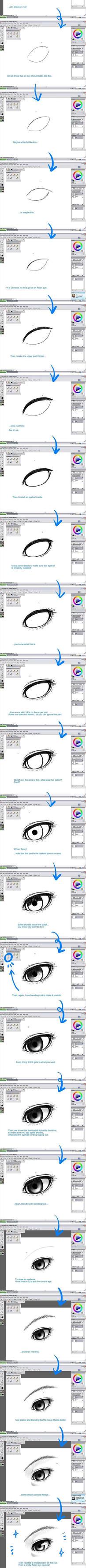Eye Basic Tutorial by hahahayuus