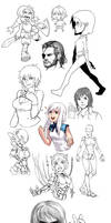 Sketch Dump 5 by hahahayuus