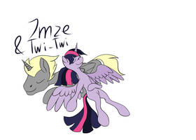 Twilight and I by Xormak (request gift?) by Imzebrony