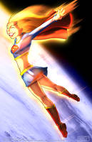 Supergirl Skydive by ReverendTrigster
