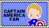 Stamp - Captain America Fan by Mibu-no-ookami
