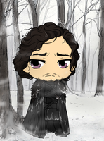 Game Of Thrones - Jon Snow by Mibu-no-ookami