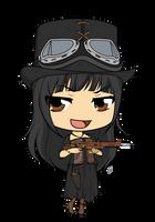 Commission - SteamPunk Lady by Mibu-no-ookami
